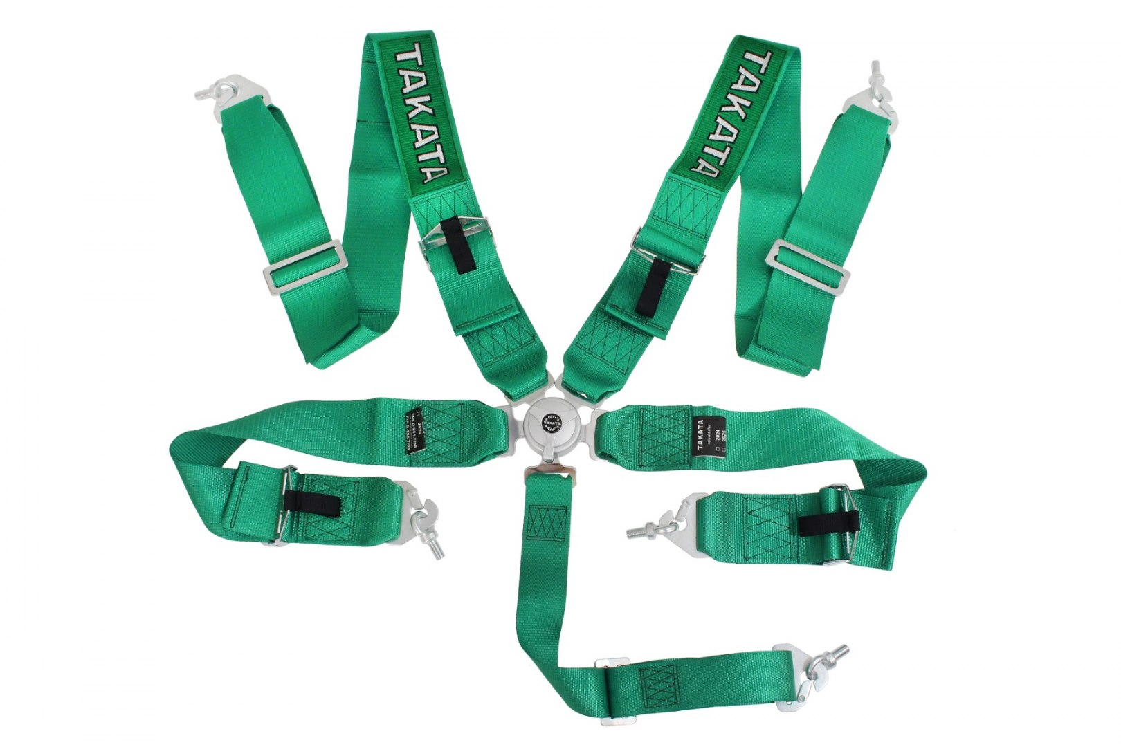 "Pasy sportowe 5p 3"" Green - Takata Replica harness - GRUBYGARAGE - Sklep Tuningowy"
